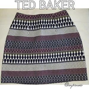 Ted Baker metallic mini skirt